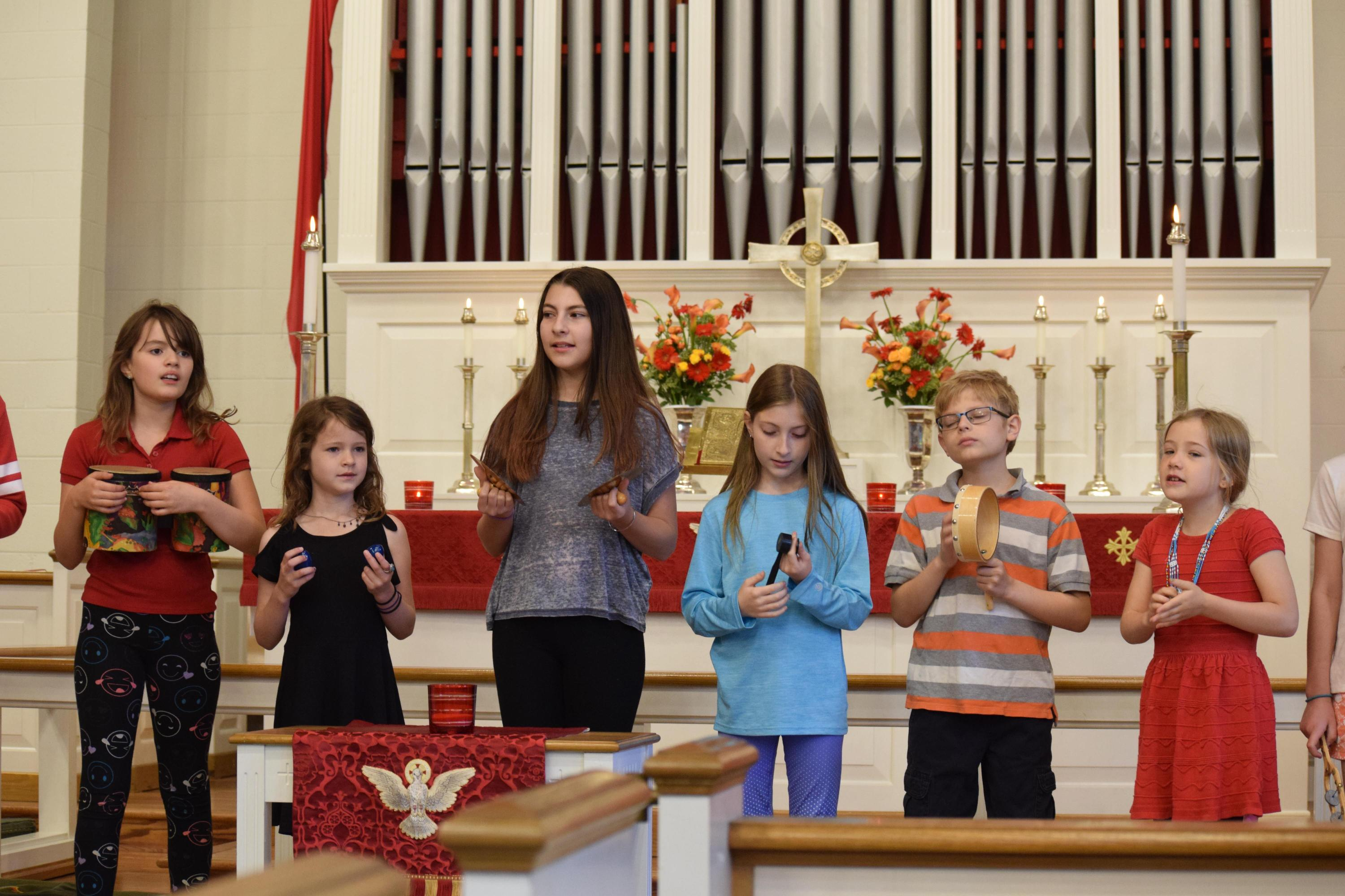 """Sunday School Students Sing """"Day By Day"""""""