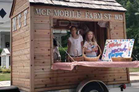 MCF Mobile Farm Stand in July 4th Parade