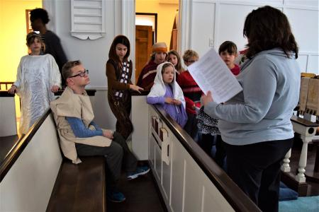 Christmas Pageant Rehearsal 2016